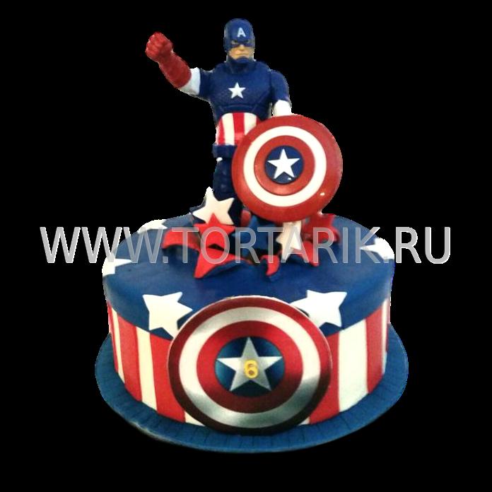торт капитан америка фото
